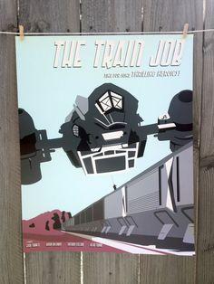 Screenprinted Train Job Poster