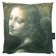 £35 - The Water-Lily Pond Cushion| National Gallery Shop. Add some real inspiration to your home with this beautiful cushion, featuring a detail from Leonardo da Vinci's The Virgin of the Rocks.. This square shaped cushion comes with a zip along on one side, with a removable cushioned pad for easy care. Designed exclusively for the National Gallery, this cushion has a beige reverse and comes with a delightful faux-suede finish. #AngelTrail