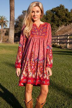 Free shipping with Promo Code: Freeship BOHO Dress - Sassy Posh
