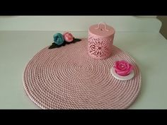 Renkli Halat İple Supla yapımı,Amerikan servisi yapımı,Dekorasyon - YouTube Color Tattoo, American, Basket Weaving, Decoration, Diy And Crafts, Cord, Kids Rugs, Embroidery, How To Make