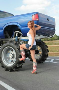 Monster truck and girl