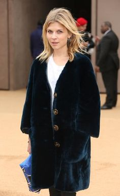 Actress Clemence Poesy arrives for the Burberry Womenswear Autumn/Winter 2015 show at London Fashion Week in Kensington Gardens, west London, Monday, Feb. 23, 2015. (Photo by Joel Ryan/Invision/AP)