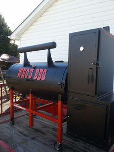TS-250 with warming tower #smoker #bbq #TopShotBBQ Custom Smokers, Smoke Grill, Barbecue Grill, Grills, Smoking, Tower, Backyard, Warm, Building