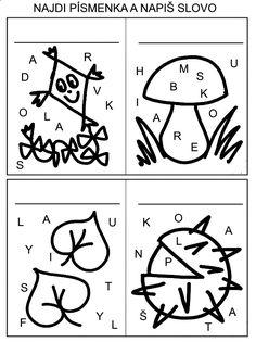 Pro Šíšu: Pracovní listy ČTEME PÍŠEME Montessori, Alphabet, Education, School, Kultura, Character, Dolphins, Autism, Kids Learning