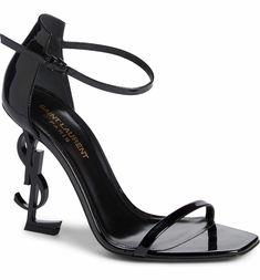 ad86fc58e491 Main Image - Saint Laurent Opyum YSL Ankle Strap Sandal (Women) Ysl Sandals