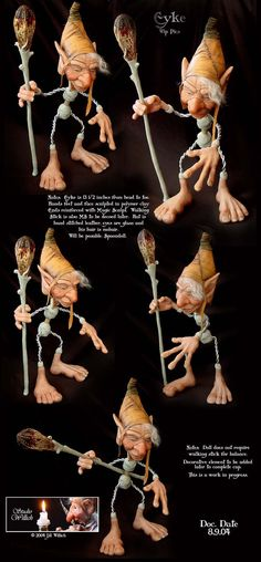 Air Dry Clay Tutorials: Spoon Doll ~ Fantasy Figure