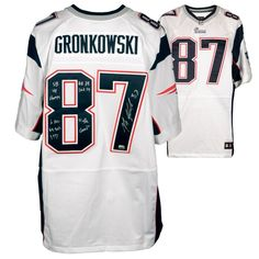 Fanatics Authentic Rob Gronkowski New England Patriots Autographed White  Elite Jersey with Multiple Inscriptions -   97fc81304