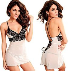 LEADO Sexy Lace Erotic Stretch See Through Babydoll Lingerie Set for Women | Strut Yer Stuff