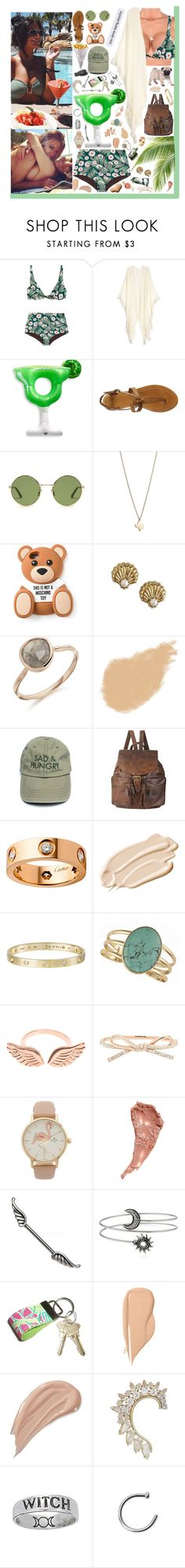 """""""The ocean is my only medication.❤️"""" by loretta-mccoy ❤ liked on Polyvore featuring Mara Hoffman, Big Mouth, Frye, Yves Saint Laurent, Minor Obsessions, Rachael Ray, Moschino, Juicy Couture, Armani Beauty and Forever 21"""