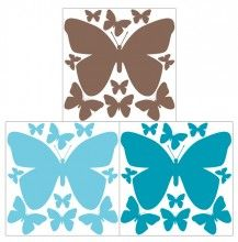 Butterfly Teal Aqua Brown Decals http://www.muralsforkids.com/products/Butterfly-Teal-Aqua-Brown-Decals.html