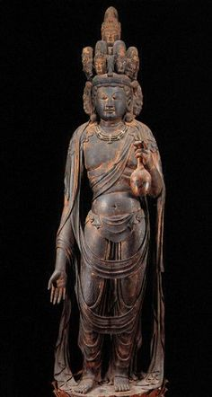 National Treasure of Japan,  Eleven-faced Avalokitesvara, 面観音, Kogen-ji temple, Shiga, Japan. 9th century