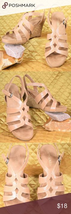 Aerosoles Women's 8M Nude Plush Wedge Sandals Women's adorable strappy plush wedges by Aerosoles. They have minimal signs of use. Like new condition!   **If you appreciate old school quality - you're in the right place. We don't just sell products, we put time & work into them. PLUS. we ship FAST! Usually within 1 business day! Thank you for poshing in my closet!! 😘🤟🌹 AEROSOLES Shoes Wedges
