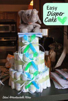 Easy Diaper Cake Tutorial