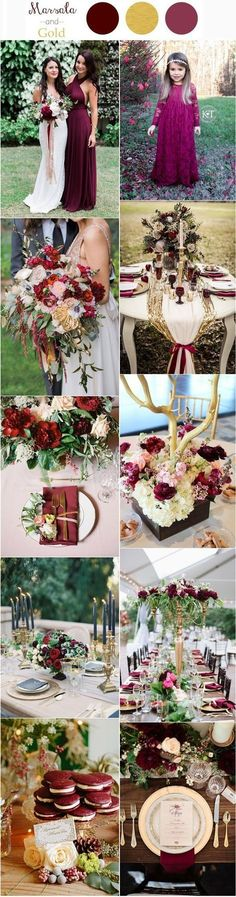 30 Elegant Fall Burgundy and Gold Wedding Ideas