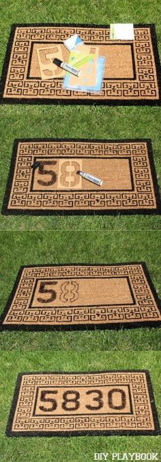 A personalized doormat tutorial that literally takes ten minutes to recreate.