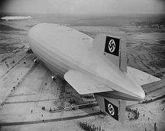 The Hindenburg in 1936. People forget that before its infamous demise, the Hindenburg had 17 successful transatlantic flights between Nazi Germany and America - 10 Images from the History of Flight
