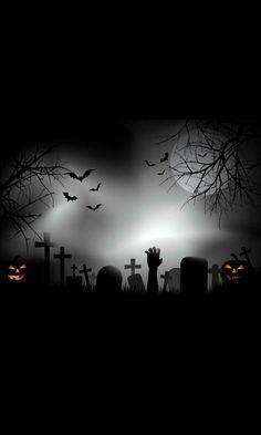 Happy Halloween, Halloween Quilts, Halloween Pictures, Halloween Town, Holidays Halloween, Scary Halloween, Halloween Decorations, Handy Wallpaper, Iphone Background Wallpaper