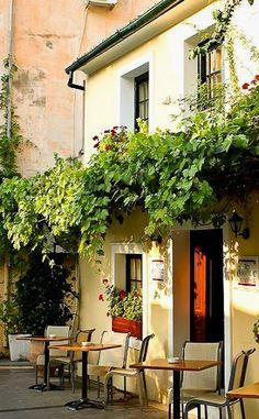 Outdoor Cafe Seating, Corfu Island, Greece