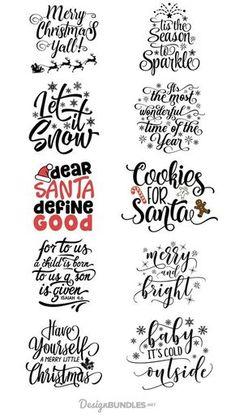 Free Christmas Quotes Design Bundle #designs #quotes #christmasquotes #christmas #xmas #craft #crafts #download #free #freebies