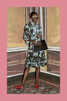 Flower Middi Skirt Gucci Prefall 2016