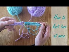 How to knit two at once in the round: Learn to cast on two matching knits at once - YouTube