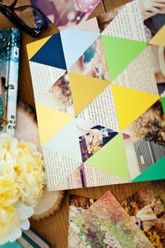 Tessellate with the greats with this beautiful DIY geometric photo collage!