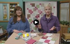 Nancy Zieman and Marie DeGroot share quilts made with 5 fabric precuts, called Charm Packs, in the new episode of Sewing With Nancy. Charm Pack Quilts, Charm Quilt, Nine Patch, Quilting Tips, Quilting Tutorials, Machine Quilting, Cute Sewing Projects, Sewing Tips, Quilt Blocks Easy