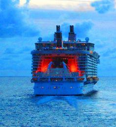 Oasis Of The Seas Departing St Maarten At Dusk|Love's Photo Album