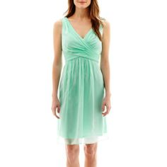 Simply Liliana Sleeveless V-Neck Chiffon Fit-and-Flare Dress  found at @JCPenney