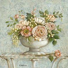 Decoupage Vintage, Decoupage Paper, Art Floral, Floral Prints, Vintage Flower Prints, Vintage Flowers, Flower Images, Flower Art, Vintage Pictures