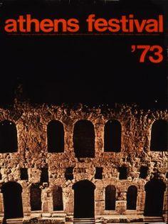 Athens festival '73. Φεστιβάλ Αθηνών. Αφίσα του EOT.