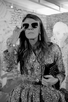 Mulberry Fashion Week moments: Anna Dello Russo at the Spring Summer 2011 show. #SS11 #LFW