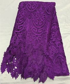 Free shipping (5yards/pc) high quality purple African guipure lace fabric 2017 newest cord lace fabric for party dress WL3941. Yesterday's price: US $85.00 (69.05 EUR). Today's price: US $56.10 (45.57 EUR). Discount: 34%.
