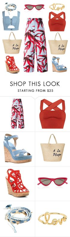 """double"" by tori186 on Polyvore featuring мода, Marni, Khaite, Michael Kors, Joie, Chicnova Fashion, Carlos by Carlos Santana, Le Specs, GUESS и Sydney Evan"