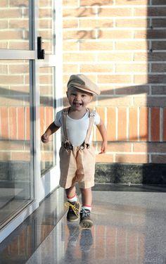 Baby boy hat newborn Newsboy hat Boy drivers cap by Nastiin