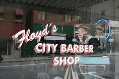 Floyd's City Barber Shop by Jacob...K, via Flickr