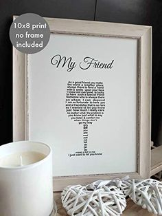 Friend Birthday Present, Friendship Poem print Wine Glass Shaped Poem to fit frame (not supplied) Unique Word De. Birthday Presents For Friends, Gifts For Friends, Shape Poems, Friendship Gifts, Handmade Birthday Gifts, Friend Poems, Birthday Poems, Miss You Gifts, Presents For Boyfriend