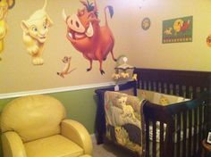 ignore the baby stuff.......for a jungle theme vbs deco .......Lion King decals would be cute for pre - k