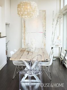 Bohemian Vancouver Home | House & Home  Similar reclaimed wood available at www.icssdesign.com  #reclaimedwood