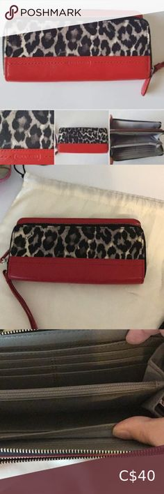 Ocelot Wallet Ocelot Wallet  100%Authentic Excellent Condition Coach Bags Wallets Coach Coin Purse, Coach Satchel, Coach Wallet, Zip Wallet, Wristlet Wallet, Zip Around Wallet, Red Polo Shirt, Blue C, Browning Logo