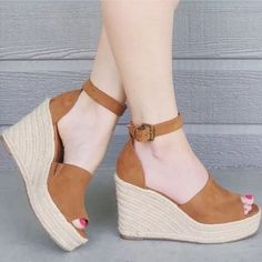 Shoes Heels Wedges, Suede Heels, Wedge Shoes, Oxfords, Espadrille Sandals, Cute Shoes, Me Too Shoes, Mode Style, Fashion Shoes