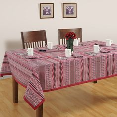 Buy trendy aztec table cover printed in intricate ethnic designs with matching runners, mats & napkins to add a stylish touch to your dining space.