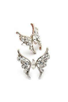 Crystal Butterfly Earrings on Emma Stine Limited