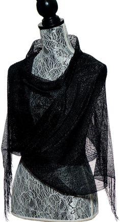 Elles Clothing Sheer Mesh Glitter Sparkle Shawl Wrap Fringe Prom Weddings Party Evening Scarfs for Women (Black) at Amazon Women's Clothing store: