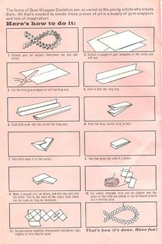 Gum wrapping Tutorial by Woof Nanny, via Flickr