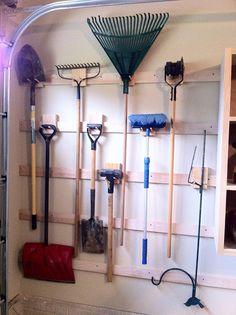 Chad's Workshop: French cleat garage storage