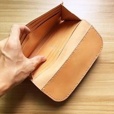 Overview:  Design: Handmade leather folded vintage women men long wallet clutch phone purse wallet In Stock: 2-6 days to process orders Include:Long Wallet