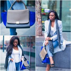 Winter Fashion Long Coat Ripped Jeans Handbag Patricia Bright Britpopprincess YouTube Guru Fashion Blogger Fashionista Makeup African American Black Beauty