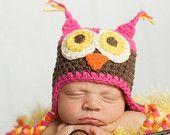 Baby Girl, Owl Hat