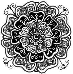 ☮ American Hippie Coloring Pages Doodle Zentangle Art ~ Flower Mandala Zentangle Drawings, Doodles Zentangles, Zentangle Patterns, Doodle Drawings, Doodle Art, Zen Doodle, Mandala Doodle, Doodle Tattoo, Mandala Design